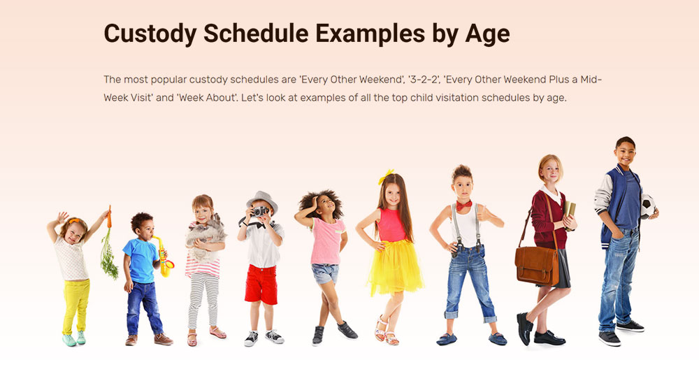 Timtab custody schedules by age